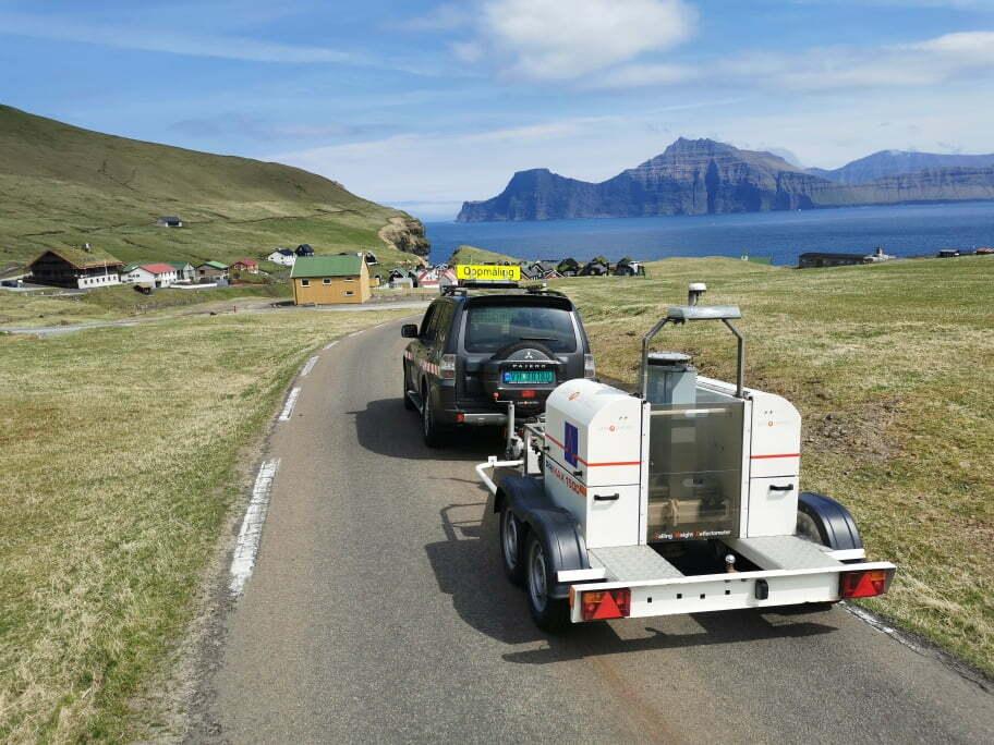 Vi har målt bæreevne på veiene og flyplassen på Færøyene!